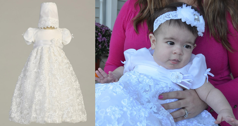 Beaded Belt Short Sleeves Bowknot Princess Formal Natural Waist Christening Dress