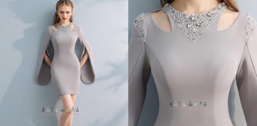 Moderne Juweel Satijn schede Dichter Petite Cocktail jurk