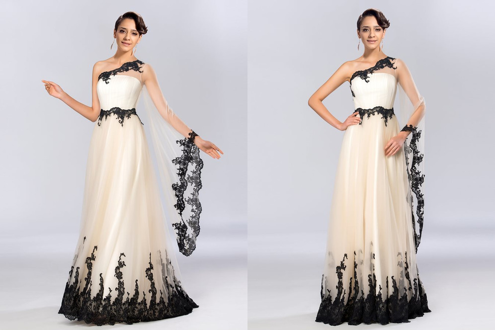 Natural Waist Ankle Length A-Line Tulle Sweep Train Elegant Evening Dress