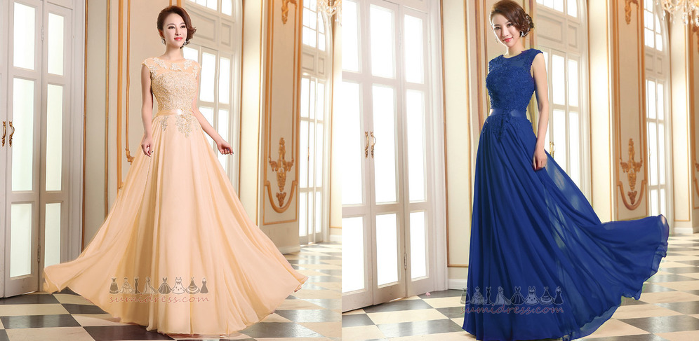 Binding Wedding Capped Sleeves Natural Waist Chic Floor Length Evening gown