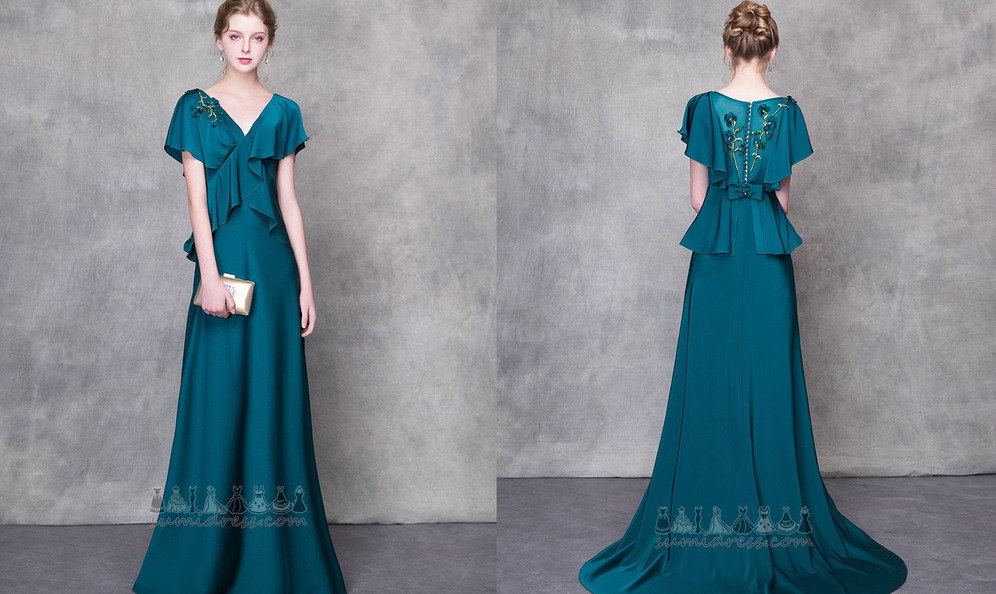 ddc40dea1407 φόρεμα βραδινά Γραμμή Α Λαιμόκοψη V Σατέν Μακρύς Επίσημη Φυσικό ...