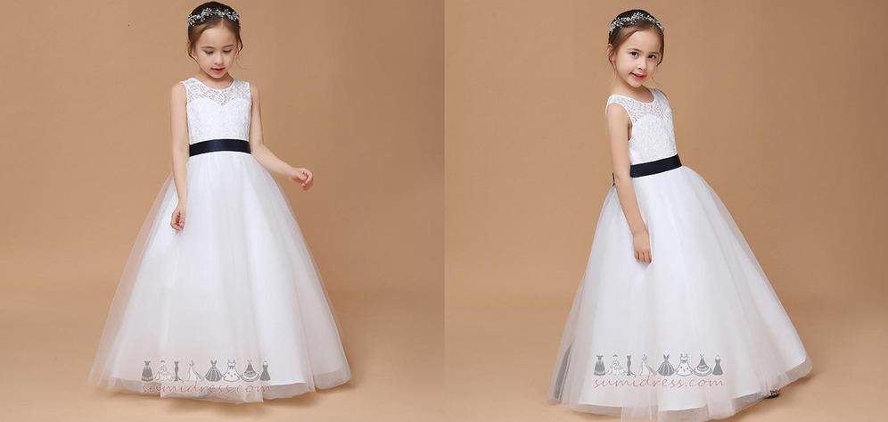 Sleeveless Sashes Jewel A-Line Zipper Up Medium Flower Girl gown