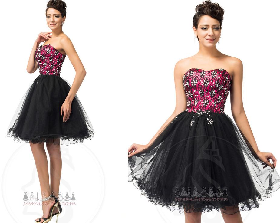 Natuurlijk Kraalwerk Tule Medium Strapless juwelen lijfje cocktail jurk