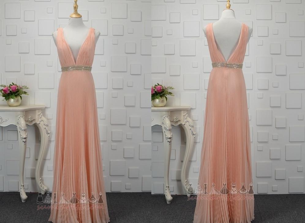 7fcaacf8386b φόρεμα βραδινά εξώπλατο Λαιμόκοψη V Μέσον Φυσικό Ντραπέ Αμάνικο ...