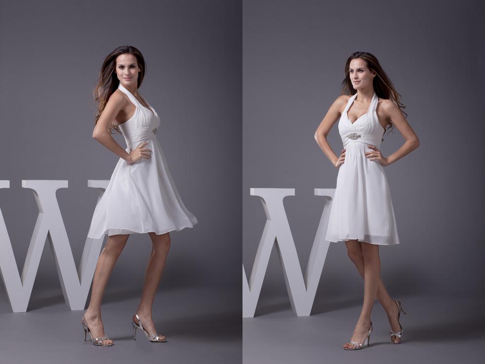 9eb7ee31a846 φόρεμα επάνοδος Σιφόν Μέσον Κοντό Πλισέ Φυσικό Καπίστρι - Sumidress.com