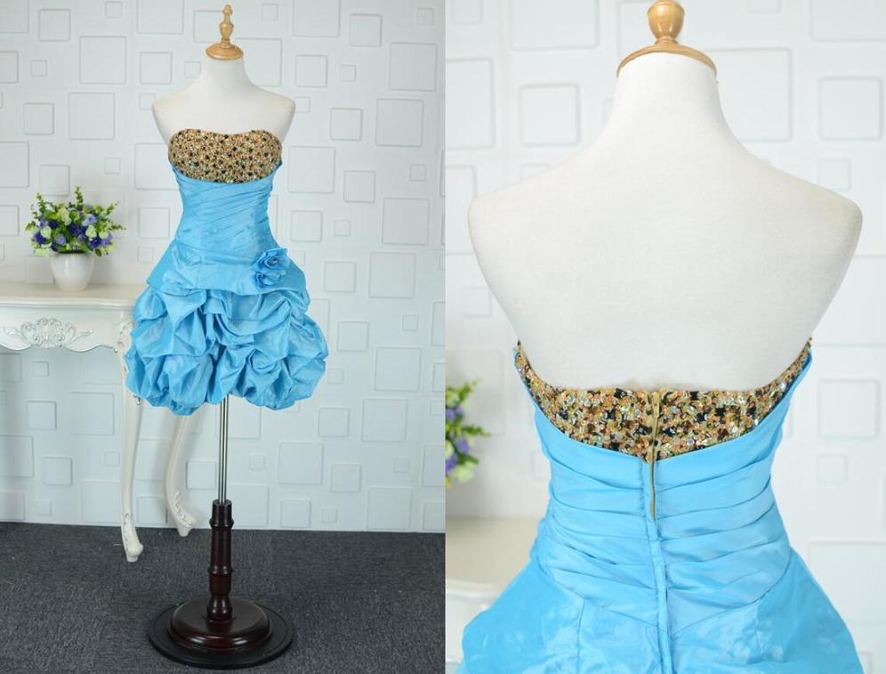 Φορέματα Κοκτέιλ Ταφτάς Φερμουάρ επάνω Αμάνικο τρίγωνο σούρα σικ ... 4723a09119d