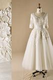 971a28825645 νυφικό φόρεμα Επίσημη Τούλι Αστράγαλο Μήκος Μέσον Δαντέλα Σέσουλα    101.11  USD