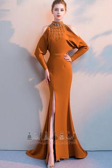 53cb3bc8312d Βραδυνά φορέματα Υψηλός λαιμός Κρυστάλλινη Θήκη Κοντομάνικη μπλούζα  Πολυτελές ...