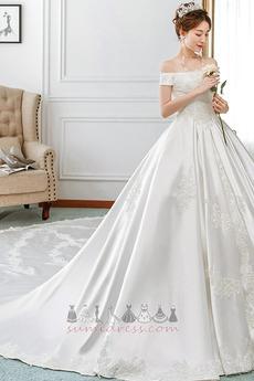 2b944bb9641e Rýchle dodanie Satén Svadobné šaty z online desetník obchode - RobeMME