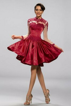 f49733e4da6f φόρεμα Κοκτέιλ εξώπλατο Μικροκαμωμένη A γραμμή Μίνι ...
