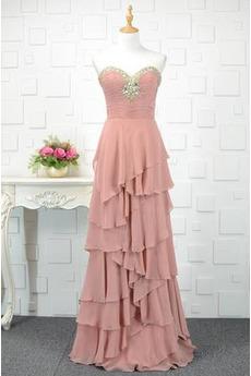 φόρεμα βραδινά εξώπλατο Ρομαντικό Αμάνικο Τραίνο σκουπισμάτων Φθινόπωρο  Χάντρες ... 8db6548d7fb