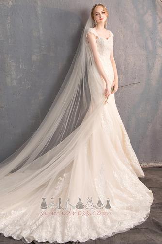 2ec017f44a0f Νυφικά φόρεμα Γοργόνα Δέστε τις Δικαστήριο Εκπαιδευτείτε Άνοιξη Κοντομάνικο  Φυσικό