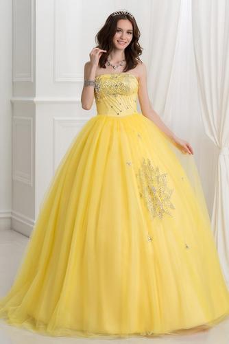 b4eabfaa657 τελετή ενηλίκων φόρεμα Τούλι Οι πτυχωμένες μπούστο Φυσικό Μήκος ...