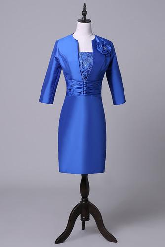 a59be0ef2df0 Η μητέρα φόρεμα Μέσον Μέχρι το Γόνατο Φερμουάρ επάνω Λουλούδι -  Sumidress.com